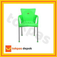 Terb4Ru Khusus Gojek Grab Kursi Plastik Bangku Senderan Fuga Chair Shi
