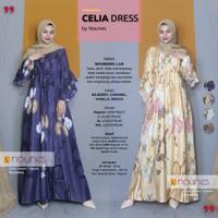 NOUNES CELIA DRESS Gamis Pesta Syari Maxmara Lux Busui Tali Serut