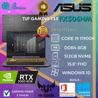 LAPTOP GAMING ASUS TUF FX506HM I9 11900/16GB/512GB/RTX3060 6GB/15.6