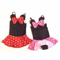 baju renang anak bayi cewek perempuan 1-2 tahun motif mini mouse