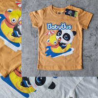 Kaos Oblong T-Shirt lengan pendek anak full cotton gambar BABYBUS