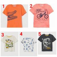 Baju Kaos pendek anak laki branded ori H&M hnm HM made in china