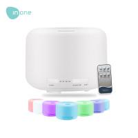 Inone Ultrasonic Aroma Diffuser Humidifier 500ML 7 Color LED + Remote