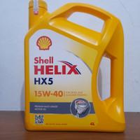 Oli shell helix hx5 15w-40 isi 4L original-scan barcode terferivikasi