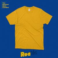 Reatic Kaos Polos Premium Ultrasoft Cotton Modal - Kuning Mustard