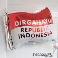 Bendera Dirgahayu Balon Foil/17 Agustus/Merdeka