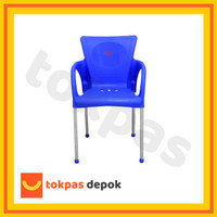 Gojek/Grab Kursi Plastik Bangku Senderan Fuga Chair Shinpo 291 - Biru