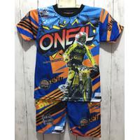 BISA COD/ stelan baju balap anak lengan pendek/ stelan motorcross anak - One-al, 10