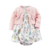 Bebiso Setelan Baby Dress 2 in 1 Anak Flower Peach 6 Bulan - 2 Tahun