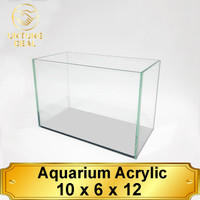 Aquarium Soliter ikan cupang Acrylic/Akrilik 2mm 10x6x12