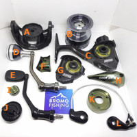 Sparepart DAIDO DAIMOS PRO 6000 bail arm spool rotor gear handle per