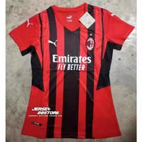Jersey Baju Bola Wanita Cewek Ladies Grade Ori AC Milan Home 2021-2022
