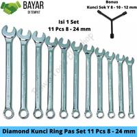DIAMOND KUNCI RING PAS SET 11 PCS 8MM-24MM / KUNCI RING PAS SET MURAH