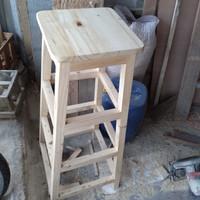 bangku tangga kayu jati belanda