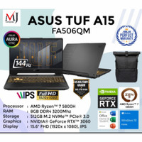 ASUS TUF GAMING A15 FA506QM - R7 5800H 8GB 512GB RTX3060 144Hz W10 OHS