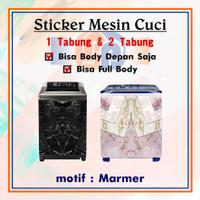[05-08] STIKER MESIN CUCI MOTIF MARMER BAHAN VINYL PREMIUM TAHAN AIR