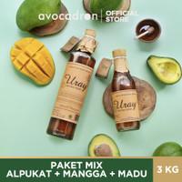 AVOCADRON ALPUKAT REGULER+ MANGGA + MADU URAY 875 GR [PAKET MIX]