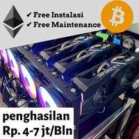 Paket Pemula Mining RTX 2060 x 3 Rig Penambang Crypto ETH BTC BNB DOGE