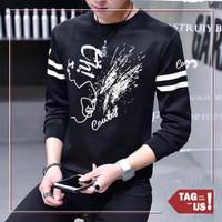 Kaos Pria Lengan Panjang Motif Cowboy Babytery Murah Promo (TagUs) - Hitam, L