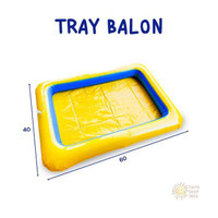 Mainan Anak Tray Balon + Pompa | Edukasi Pasir Ajaib - Kuning Promo