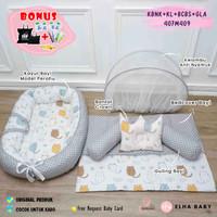 (PAKET HEMAT) Kasur Bayi Nest Plus Bed Cover Baby Kasur Bayi Perahu