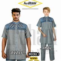 Baju Koko Couple Ayah Anak Baju Koko Pasangan Ayah dan Anak Shakeil 74 - MODEL 1, M