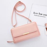 Dompet Panjang Lipat Wanita Dengan Tali Panjang / Dompet Cewek Terbaru