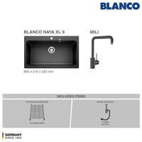 BLANCO Silgranit Naya XL 9 + Kran Air MILI Silgranit