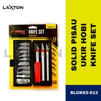 Pisau ukir set 13PCS Cutter Pen Ukir Art Knife CRAFT KNIFE SLCK03-013