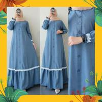 Baju Gamis Wanita Jumbo AB HUMAIRA Busana Muslimah Dewasa Dres LD 120