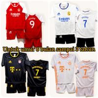 setelan pakaian anak laki laki baju bola untuk anak umur 1-2-3 tahun