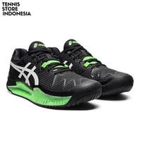 Asics Gel Resolution 8 Black/Gecko Green ( Sepatu Tenis / Tennis )