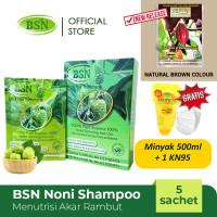 BSN Noni Shampoo isi 5 sachets GRATIS 1 Liter Minyak Goreng Tropical