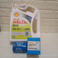 Paket Oli Shell Helix Eco 5W-30 + Filter Oli Honda Brio Satya Original