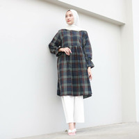 SIZA FLANEL TUNIK - navygreen