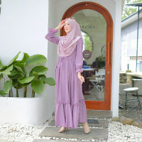 Gamis Muslim Azura Dress Lilac Maxi