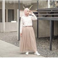 Rok Tutu Polos Maxi Skirt - Hitam