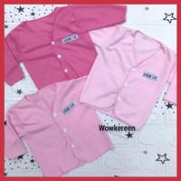 baju bayi perempuan baru lahir lengan panjang baby cewek newborn pink
