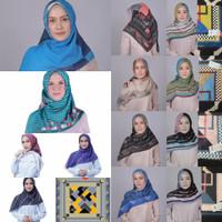 MOTIF BARU Hijab Jilbab Kerudung ZOYA Segi Empat Original Polyspun