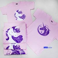 Kaos/baju couple ULANG TAHUN AYAH,IBU,ANAK cewek unicorn / kuda poni