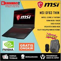 LAPTOP MSI GF63 THIN i7 10750H 8GB/16GB SSD 512GB RTX 3050 WIN10 HOME