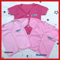 baju bayi perempuan baru lahir lengan pendek baby cewek newborn pink