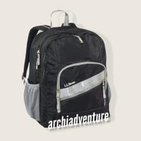 l.l bean deluxe book pack daypack sekolah original - motif