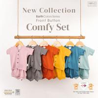 LIBBY COMFY SET Setelan Baju Celana Pendek Newborn Baby - 1stel/pack