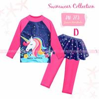 Baju Renang Anak Perempuan Celana Panjang Rok Hello Unicorn