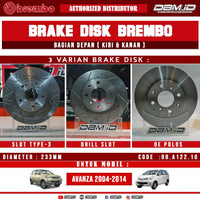 Brembo Brake Disc Rotor Disc Depan Toyota Avanza F60 2003-2011