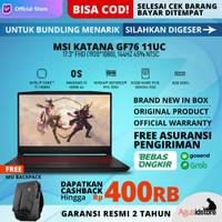MSI Katana GF76 11UC Core i7-11800H RTX 3050 144Hz 8GB 512GB 17.3 W10
