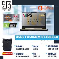 Asus TUF FA506QM Ryzen 7 5800 8GB 512ssd RTX3060 6GB 15.6FHD 144Hz