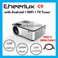 Cheerlux C9 Android WiFi TV Tuner LED Mini Projector Mini Proyektor