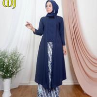 kebaya setelan long tunik kutu baru modern baju pesta wisuda wanita